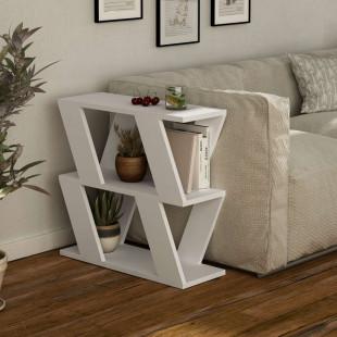 שולחן צד Lazena לבן מסדרת Decoline
