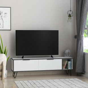 מזנון טלוויזיה Furoki לבן/אפור 150 ס