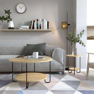 שולחן סלון  CORRO COFFEE  TABLE אלון מסדרת Decoline