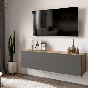 מזנון טלוויזיה תלוי FR12-AA אלון/אפור 100ס