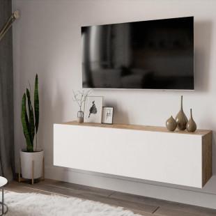 מזנון טלוויזיה תלוי FR12-AW אלון/לבן 100ס