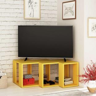 מזנון טלוויזיה פינתי Cons TV צהוב 90 ס