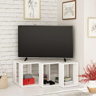 מזנון טלוויזיה פינתי Cons TV לבן 90 ס