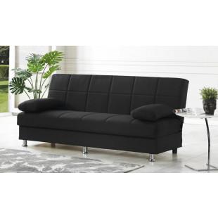 ספה נפתחת דגם Selena עם ארגז מצעים שחור מסדרת Nora