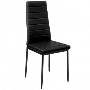 רביעיית כסאות דגם EVORA דמוי עור שחור X4