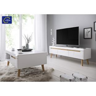 סט מזנון ושולחן מעוצבים בגימור מודרני תוצרת אירופה דגם ליאת
