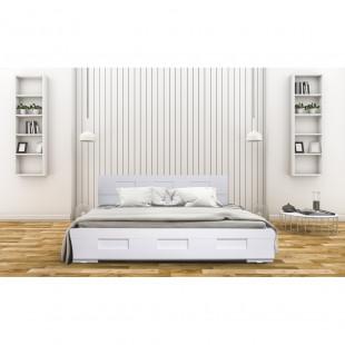 מיטה מעוצבת עיצוב חדשני עם ארגז מצעים מתאים למזרון 120/190 גליה