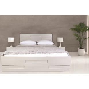 מיטה מעוצבת  עיצוב חדשני עם ארגז מצעים  מתאימה למזרון 140/190 לימור
