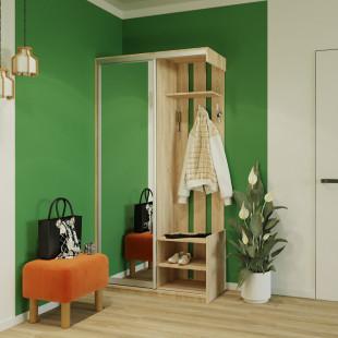 ארון כניסה עם דלת מראה ותאי אחסון תוצרת אירופה  דגם הילה