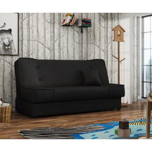 ספה אירופאית נפתחת למיטה רחבה עם ארגז מצעים דגם עדי שחור