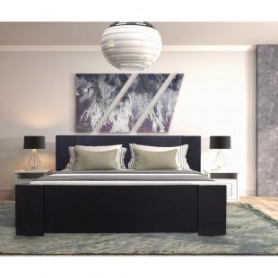 מיטה מעוצבת  בעיצוב חדשני עם ארגז מצעים מתאימה למזרון 160/200 בצבע ונגה לאון
