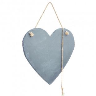 לוח מחיק בצורת לב להודעות קצרות עשוי אבן טבעית