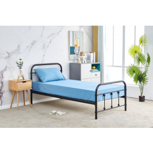מיטת יחיד מברזל 90x190 בגוון שחור דגם אפיק 90