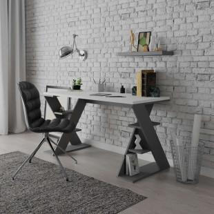 שולחן כתיבה Papillon אפור/לבן מסדרת Decoline